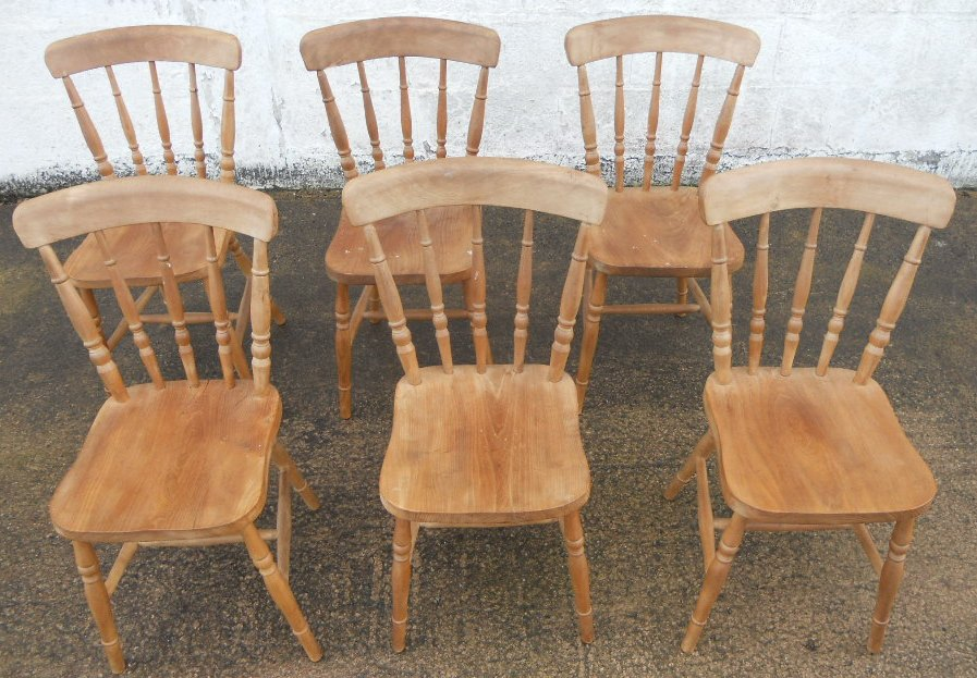 kitchen chair styles outdoor farm table sold set of six antique victorian style beech windsor stickback kitchen dining chairs